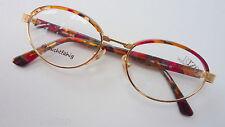 Damenbrille Brillenfassung gold bunt oval abgerundet gleitsicht Gr. M 52 [] 18