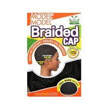 Model Model Braided Cap Full Bang Pattern Hair Crochet Weaves Wigs Adjustable
