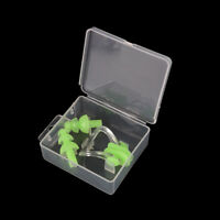 Green Waterproof Soft Silicone Swimming Set Nose Clip + Ear Plug Kits Boxed  zh