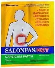 25 PACKS OF HISAMITSU SALONPAS HOT CAPSICUM PATCH TOPICAL ANALGESIC 05/21