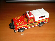 MATCHBOX SPEEDKINGS PLYMOUTH EMERGENCY RESCUE CAR  VINTAGE1970s