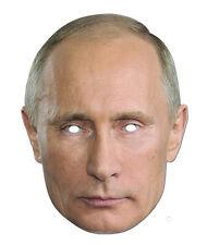 Vladmir Putin Celebrity 2D Card Party Face Mask Fancy Dress Up Russian President
