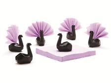 Serviettenhalter Napkin Swan 6stk Schwan Porzellan Serviette schwarz
