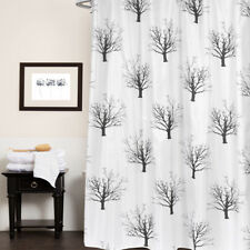 "Polyester Fabric Shower Curtain 70""x72"" Faith Black & White Tree Print"
