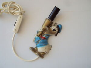 Vintage cast iron Donald Duck Wall Lamp Childs Wall Lamp Night Light