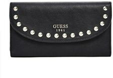 NWT GUESS Fynn Studded Multi Clutch Wallet Color Black Authentic