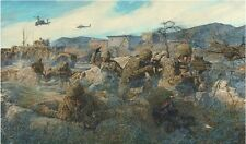 """The Rock"" James Dietz Artist Proof Print - ""Sky Soldiers"" of 2nd Battalion"