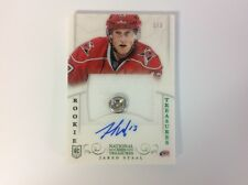 2013-14 panini national treasure hockey Jared Staal rookie auto patch card 1/3