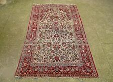 An Antique Silk Kashan Rug