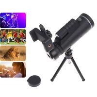 40X60 Zoom Optical HD Len Monocular Telescope+ Tripod+ Clip For Universal Phone`