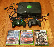 Original Microsoft Xbox w/2 controllers, 3 games - Tested/Works