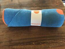 New Yoga Towel Mat Blue Hot Yoga Skidless
