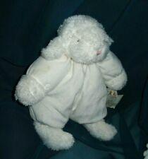 "Bunnies By The Bay White Plush 12"" Stuffed Lamb/ Sheep"