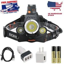 BORUiT 15500 Lumen Rechargeable Headlamp XM-L 3x L2 LED Headlight 18650 Battery