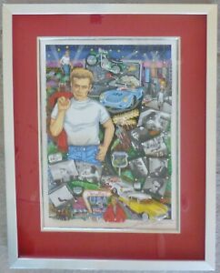 CHARLES FAZZINO FOREVER JAMES DEAN 3D DELUXE ED. SERIGRAPH HAND SIGNED FRAMED