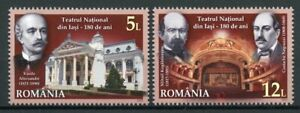 Romania Architecture Stamps 2020 MNH Vasile Alecsandri Ntl Theatre Iasi 2v Set