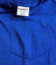Vintage Deadstock Mc Gregor Pocket Blue T-Shirt 50/50 Size L(42-44) Made In USA