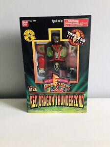 1994 Bandai Mighty Morphin Power Rangers SpecialSize Red Dragon Thunderzord MISB