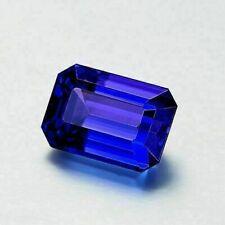 10.27 CTS EMERALD CUT SHAPE D'BLOCK AAAAA BLUE NATURAL TANZANITE GEMSTONE