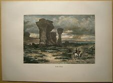 1884 print RED BUTTES, LARAMIE PLAINS, WYOMING (#57)