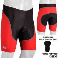 Mens Cycling Shorts Tights MTB Bike Bicycle  Hi-Density Padded Red S, M, L, XL