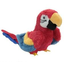 GABBY Douglas plush PARROT stuffed animal bird scarlet macaw
