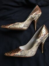 Christian Dior Size 4 Snakeskin Leather Heels Gorgeous !!!