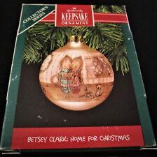 1990 Hallmark Keepsake Glass Ornament ~ Betsey Clark ~ Home for Christmas ~ Mib