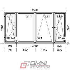 Terassentür PVC KIPP Schiebefenster 450 x 230cm EXTRA ANGEBOT!!!