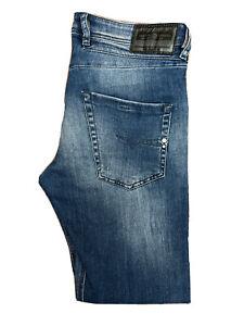 Original Diesel Belther 084IE Reg Slim Tapered Blue Denim Jeans W32 L30 ES 8267
