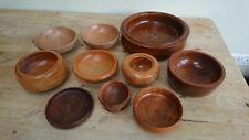 10 vintage wooden bowls re-enactment LARP theatre props job lot