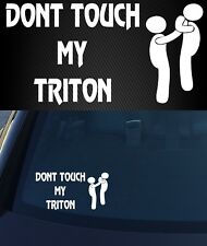 MITSUBISHI TRITON 4X4 Car ute DECAL Funny Sticker 200mm