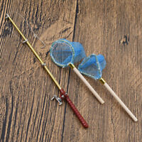 Dollhouse Miniatures Accessories Cute Fishing Rod Fishing Net Doll House Toys