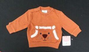 Topomini Infant's Orange Lion L/S Pull Over Sweater