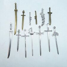 Hk17 Mixed Sword Charms Antique Bronze Tone Charm Pendant Men Women Gift Jewelry
