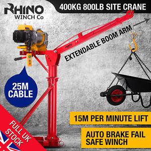 Electric Jib Crane - 400Kg / 882lb Lifting Hoist, 240V Heavy Duty ~ Rhino