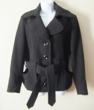 Ladies Black Belted Jacket Size 12