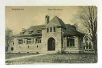 Walden New York Ogden Free Library Vintage Postcard