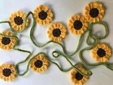Sunflower Crochet Garland Bunting Approx 2 metres - 10 flowers