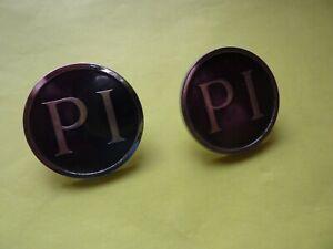 Triumph 2.5 PI rear pillar badges.  One pair.  Good condition.