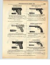 1928 PAPER AD Luger 9 Shot Colt Automatic Pistol Mauser 8 Shot H&R Revolvers