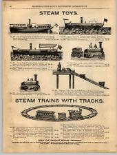 1894 PAPER AD Steam Toy Boats Mountain Railroad Train Locomotive Magic Lantern