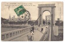 avignon ,  pont suspendu sur le rhône  ---