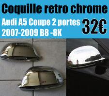 Coquille rétroviseur chrome Audi 5 coupé  coque retro s5 2007-2009 CHROME