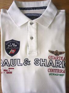 PAUL & SHARK YACHTING Poloshirt, Kurzarm, Gr.XL Weiß
