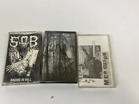 Lot of 3 Cassette DEMO Tapes/ Black Metal/USED AS BLANKS