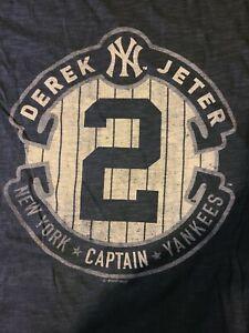 Derek Jeter New York Yankees Banner 47 Brand Tee 22  X 25 NWT The Captain HOF