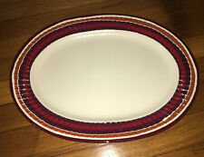 NWT Rippled Edge of Browns Oval Serving Platter Plate 15x12