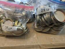 Make Offer! 24-PACK REGULAR Mouth Size Mason Jar Canning Lids AND Rings