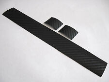 Carbon Fiber Bicycle Chainstay Protector + 2 Frame Patches - Glossy / Wet Black